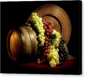 Grapes Of Wine Canvas Print by Tom Mc Nemar