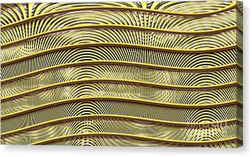 Grate Of Yellow Canvas Print by Ron Bissett