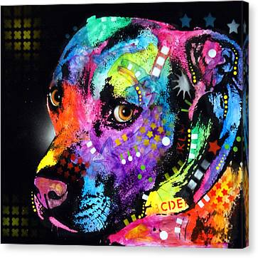 Gratitude Pitbull Canvas Print by Dean Russo