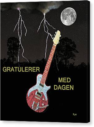 Rocks Canvas Print featuring the painting Gratulerer Med Dagen by Eric Kempson