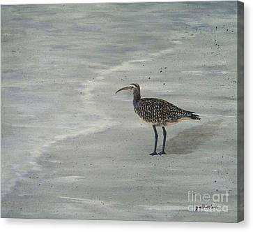 Gray Day Canvas Print by JoAnn Wheeler