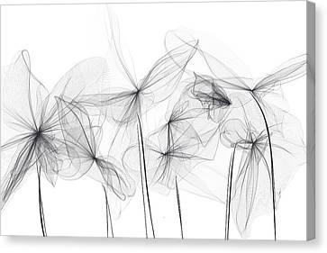 Grayish Spring - Modern Art Canvas Print by Lourry Legarde