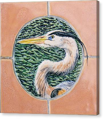 Great Blue Heron Canvas Print by Dy Witt