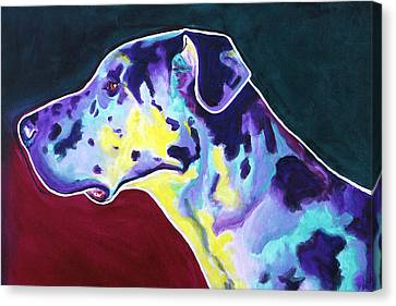 Great Dane - Boz Canvas Print by Alicia VanNoy Call