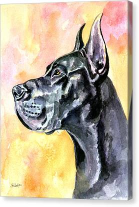 Great Dane Canvas Print by Lyn Cook