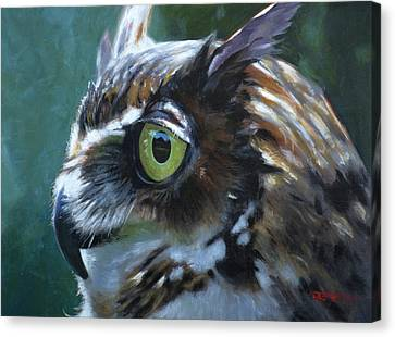 Great Horned Owl Canvas Print by Christopher Reid