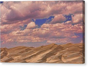 Great Sand Dunes And Great Clouds Canvas Print by James BO  Insogna