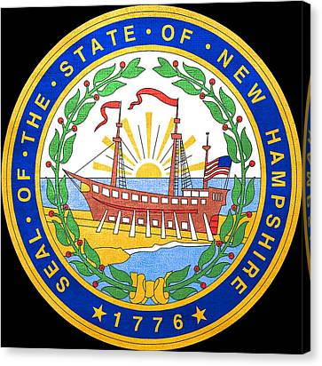 Great Seal Of The State Of New Hampshire Canvas Print by Mountain Dreams