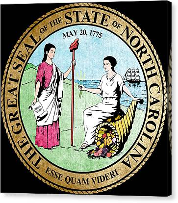 Great Seal Of The State Of North Carolina Canvas Print by Mountain Dreams