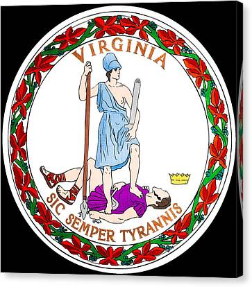 Great Seal Of The State Of Virginia Canvas Print by Mountain Dreams