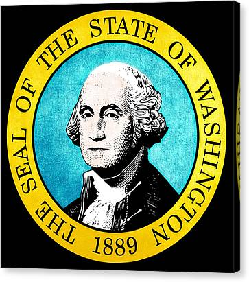 Great Seal Of The State Of Washington Canvas Print by D Benbenn