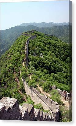 Great Wall Of China Canvas Print by Natalia Wrzask