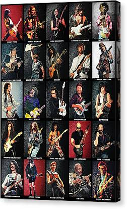 Greatest Guitarists Of All Time Canvas Print by Taylan Apukovska