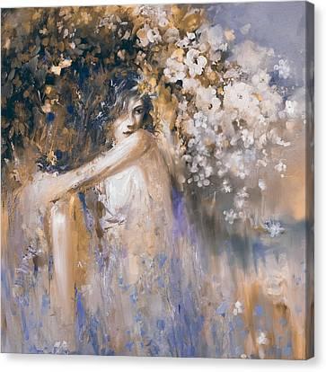 Greece Woman 174 3  Canvas Print by Mawra Tahreem