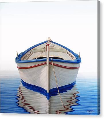 Greek Boat Canvas Print by Horacio Cardozo