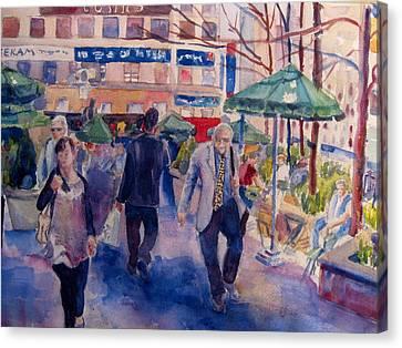 Greeley Square Canvas Print by Joyce Kanyuk
