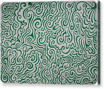 Green Abstract Canvas Print by Mandy Shupp