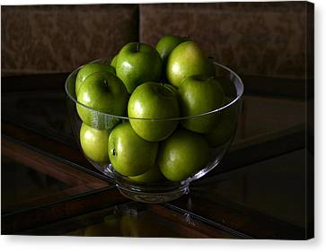 Green Apples Canvas Print by Michael Ledray