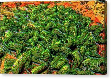 Green Bean Montage Canvas Print by Ron Bissett