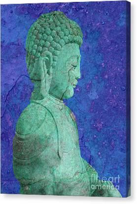 Green Buddha Canvas Print by Tony Craddock