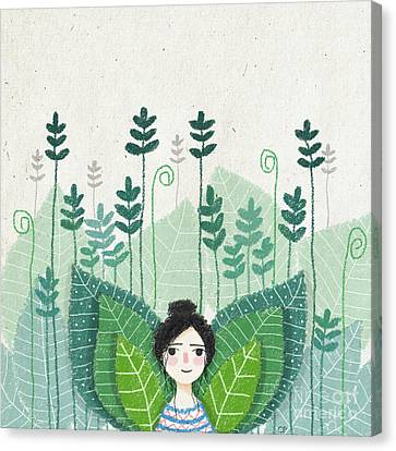 Green Canvas Print by Carolina Parada