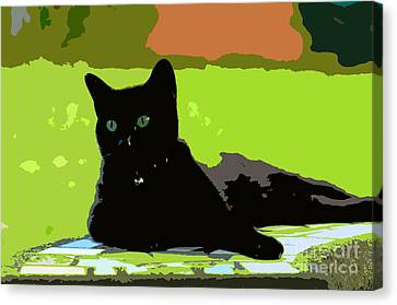 Green Eyes Canvas Print by David Lee Thompson