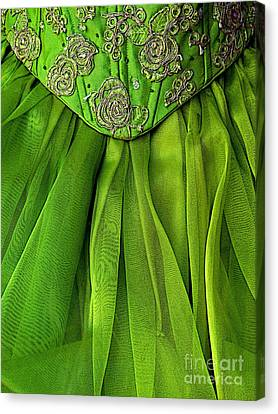 Green Frock Canvas Print by Mexicolors Art Photography
