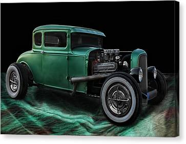 Green Hot Rod Canvas Print by Joachim G Pinkawa