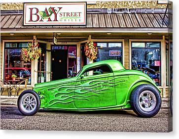 Green Roadster Canvas Print by Carol Leigh