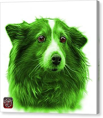 Green Shetland Sheepdog Dog Art 9973 - Wb Canvas Print by James Ahn