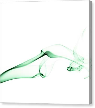 Green Smoke Canvas Print by Scott Norris