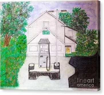 Green Valley Grocery Canvas Print by Debra Lynch