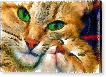 Green Vision - Da Canvas Print by Leonardo Digenio