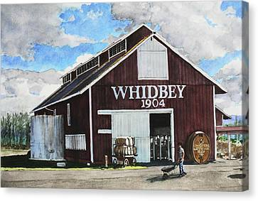 Greenbank Farm Canvas Print by Perry Woodfin