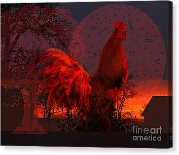 Greeting To The Sun Canvas Print by Mira Ostojic