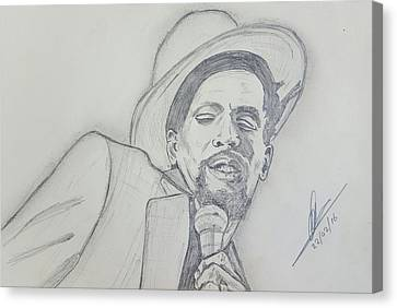 Gregory Isaacs Canvas Print by Collin A Clarke
