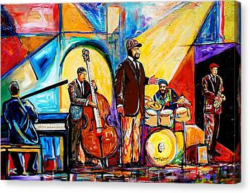 Gregory Porter And Band Canvas Print by Everett Spruill