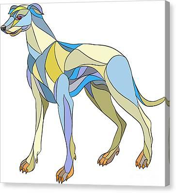 Greyhound Dog Side Mosaic Canvas Print by Aloysius Patrimonio