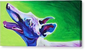 Greyhound - Emerald Canvas Print by Alicia VanNoy Call