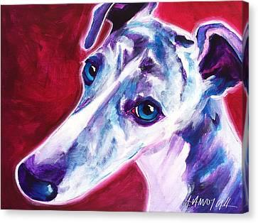 Greyhound - Myrtle Canvas Print by Alicia VanNoy Call