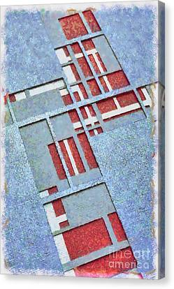 Grid Abstract Canvas Print by Edward Fielding
