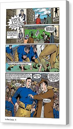 Gridiron The Beginning Page One Canvas Print by Greg Le Duc Ron Randall