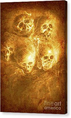 Grim Tales Of Burning Skulls Canvas Print by Jorgo Photography - Wall Art Gallery