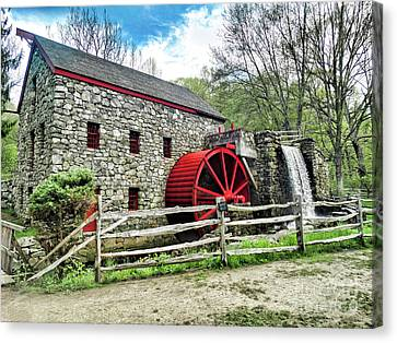 Grist Mill Canvas Print by Bill Dussault