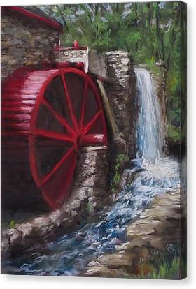Gristmill Canvas Print by Jack Skinner
