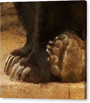 Grizzly Paws Canvas Print by Jack Zulli