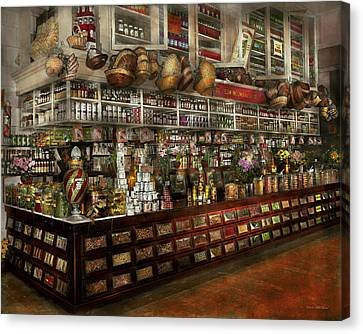 Grocery - Edward Neumann - The Groceries 1905 Canvas Print by Mike Savad