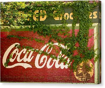Grocery Stor Cocacola Sign Canvas Print by Douglas Barnett