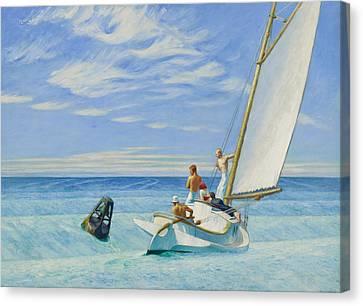 Ground Swell Canvas Print by Edward Hopper