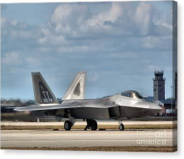 Grounded Raptor Canvas Print by Arthur Herold Jr